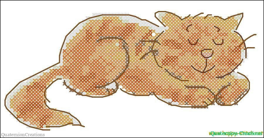 Счастливый рыжий кот: схема