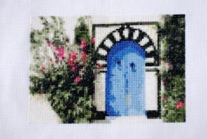 Тунисская синяя дверь