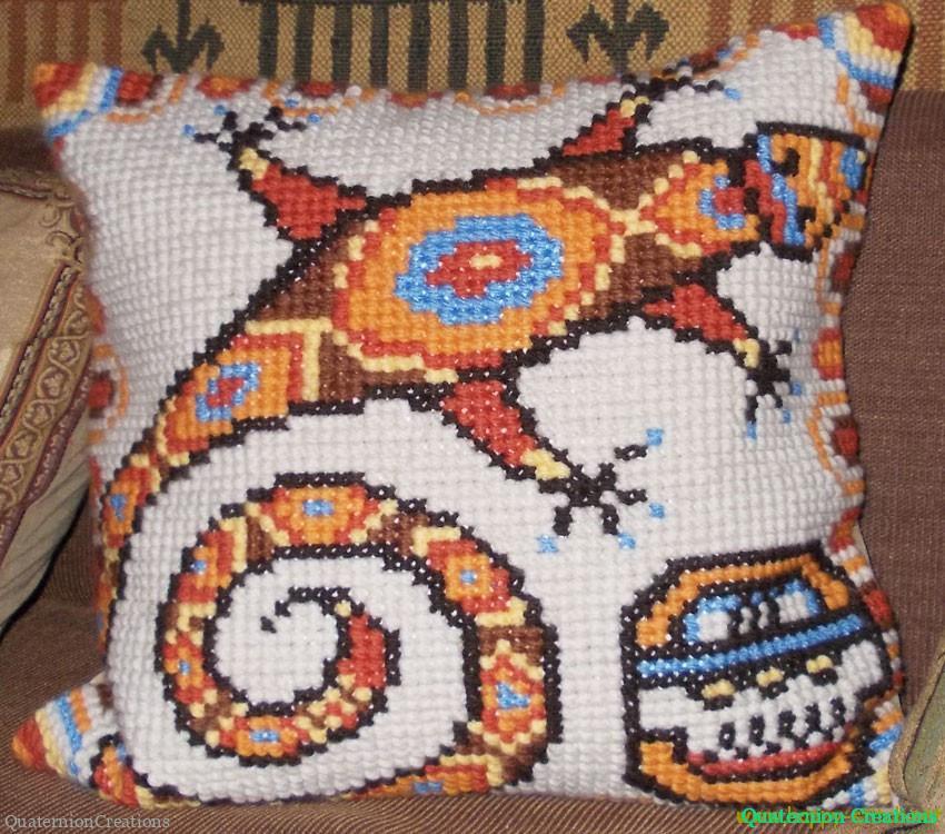 Подушка Ящерица индейцев Майя