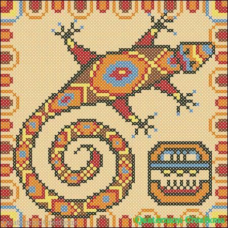 Ящерица Майя - схема для