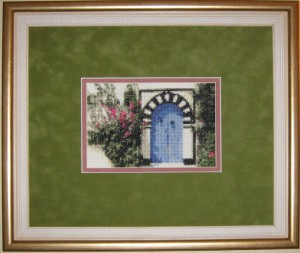 Blue door of Tunusia embroidery