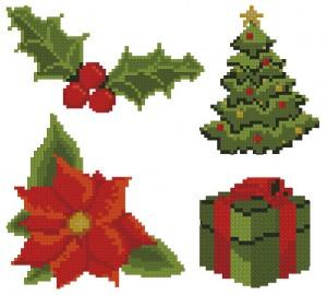 Новогодний набор орнаментов для вышивки