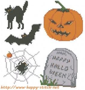 Набор схем для вышивки Хеллоуин