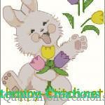 """<!--:en-->Funny Bunny cross stitch chart<!--:--><!--:ru-->Схема для вышивки """"Веселый зайка""""<!--:-->"""