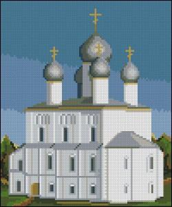 Схема для вышивки крестиком Церковь Спаса-на-Песках