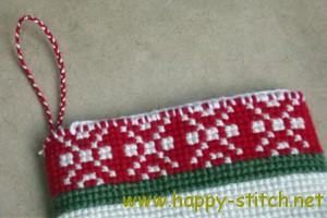 Christmas stocking detail