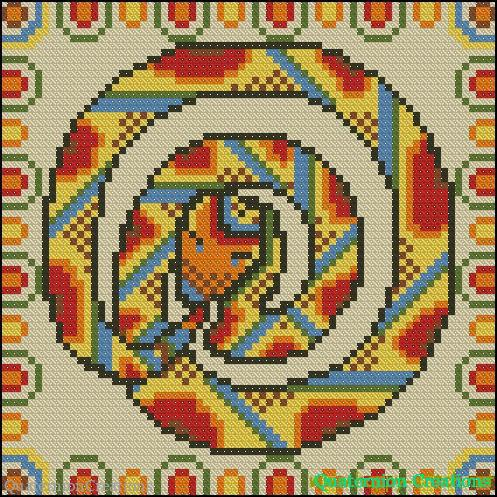 http://www.happy-stitch.net/wp-content/uploads/2012/12/mayan-snake-cushion.jpg