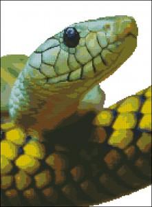 Схема для вышивки крестом Фото-змея