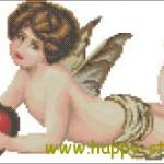 "<!--:en-->Cupid and heart cross stitch pattern<!--:--><!--:ru-->Схема для вышивки ""Купидон  и сердце""<!--:-->"