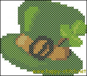 Leprechaun hat cross stitch chart