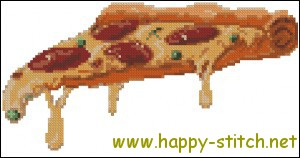 Pizza slice cross stitch pattern