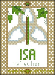 Rune Isa (ice) cross stitch chart