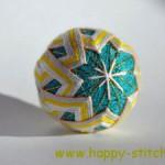 <!--:en-->Blue temari with diamond pattern<!--:--><!--:ru-->Тэмари с переплетенными ромбами<!--:-->