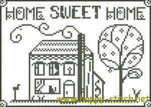 Home Sweet Home cross stitch chart