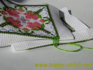 Biscornu tutorial: stitching