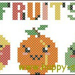 "<!--:en-->Cute fruits cross stitch pattern<!--:--><!--:ru-->Схема для вышивки ""Весёлые фрукты""<!--:-->"