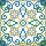 <!--:en-->Two square cushion (pincusion) patterns<!--:--><!--:ru-->Две квадратных схемы: цветы и восточный орнамент<!--:-->