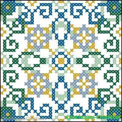 Схема для вышивки подушки