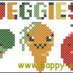 """<!--:en-->Cute veggies cross stitch chart<!--:--><!--:ru-->""""Смешные овощи""""- схема для вышивки крестом<!--:-->"""