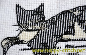 Cross stitch needlework - back