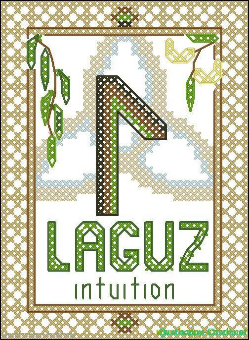 Rune Laguz (water) cross