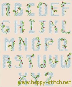 Латинский алфавит для вышивки крестом