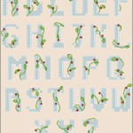 Festive cross-stitch alphabet