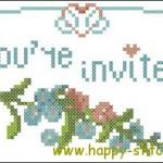 <!--:en-->Cross stitch Wedding invitation<!--:--><!--:ru-->Схема для вышивки оригинального приглашения на свадьбу<!--:-->