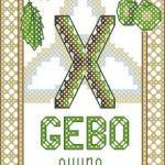 <!--:en-->Gebo rune cross stitch chart<!--:--><!--:ru-->Руна Гебо: схема для вышивки<!--:-->