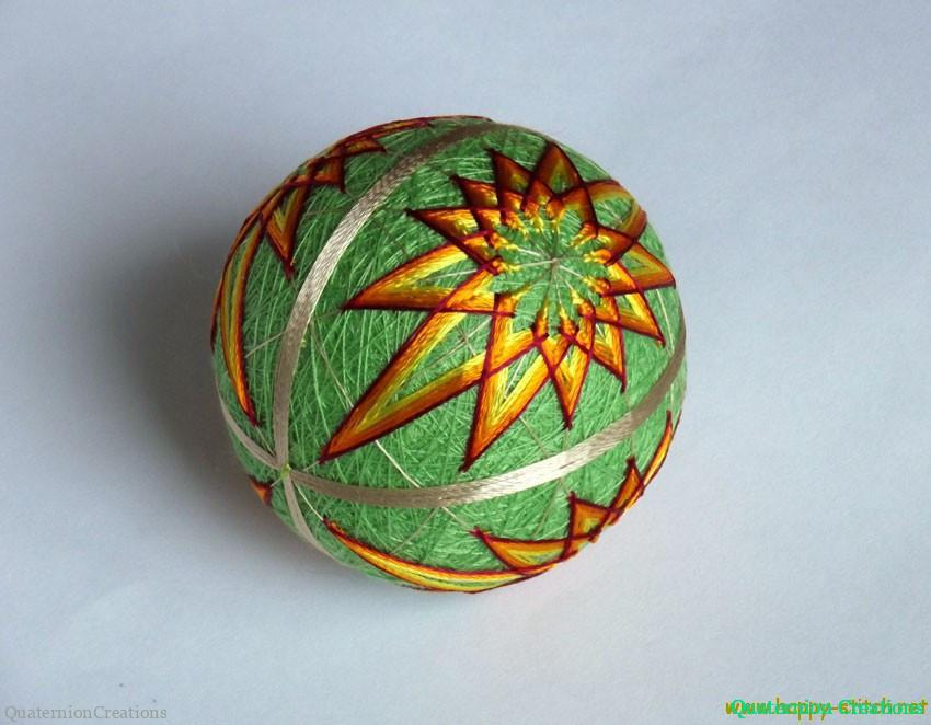 Green modified kiku temari