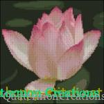 Lotus flower cross stitch chart