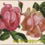"""<!--:en-->Two vintage roses cross stitch chart<!--:--><!--:ru-->Схема для вышивки """"Старинные розы""""<!--:-->"""
