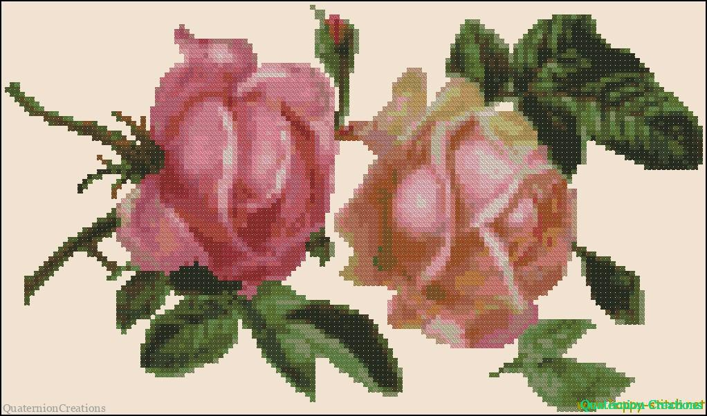 Схема вышивки старинные розы