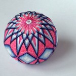 Pink and blue kiku temari