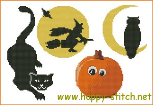 Small Halloween charts xstitch pack