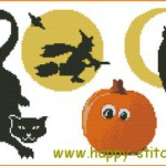 Halloween pack of cross stitch charts 2