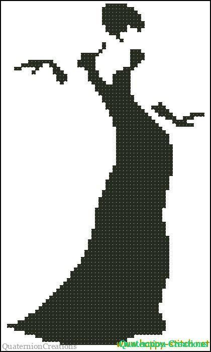 Схема для вышивки крестом Леди