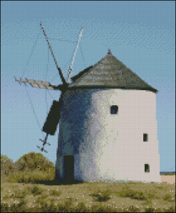 Old mill cross stitch pattern