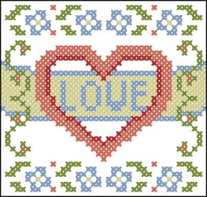 Love - схема для вышивки крестиком