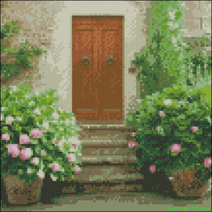 A door in Tuscany cross stitch chart