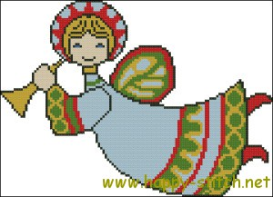 Christmas angel cross stich chart