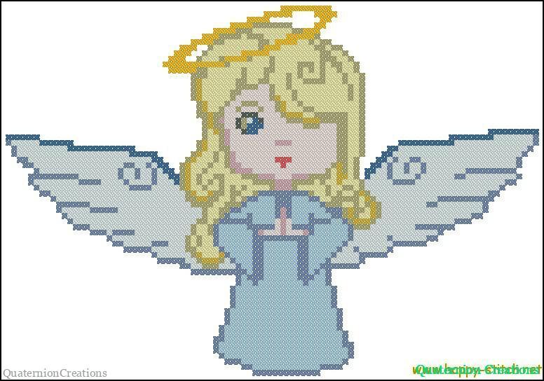 Схема для вышивки Ангел в