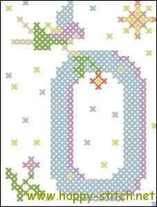 Fairy alphabet O cross stitch pattern