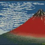 """<!--:en-->Fine Wind, Clear Morning (Red Fuji) cross stitch pattern<!--:--><!--:ru-->Схема для вышивки крестом """"Красная Фудзи""""<!--:-->"""