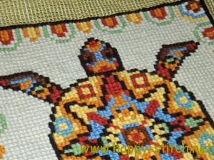 The Mayan Turtle embroidery