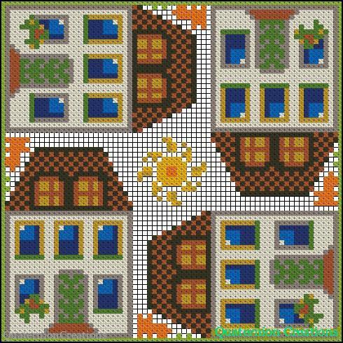Квадратная схема для вышивки