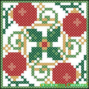 Christmas biscornu free cross stitch pattern