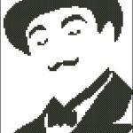"<!--:en-->Hercule Poirot cross stitch pattern<!--:--><!--:ru-->Схема для вышивки крестом ""Пуаро Агаты Кристи""<!--:-->"