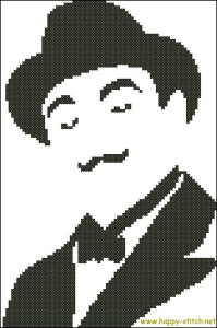Hercule Poirot free cross stitch pattern