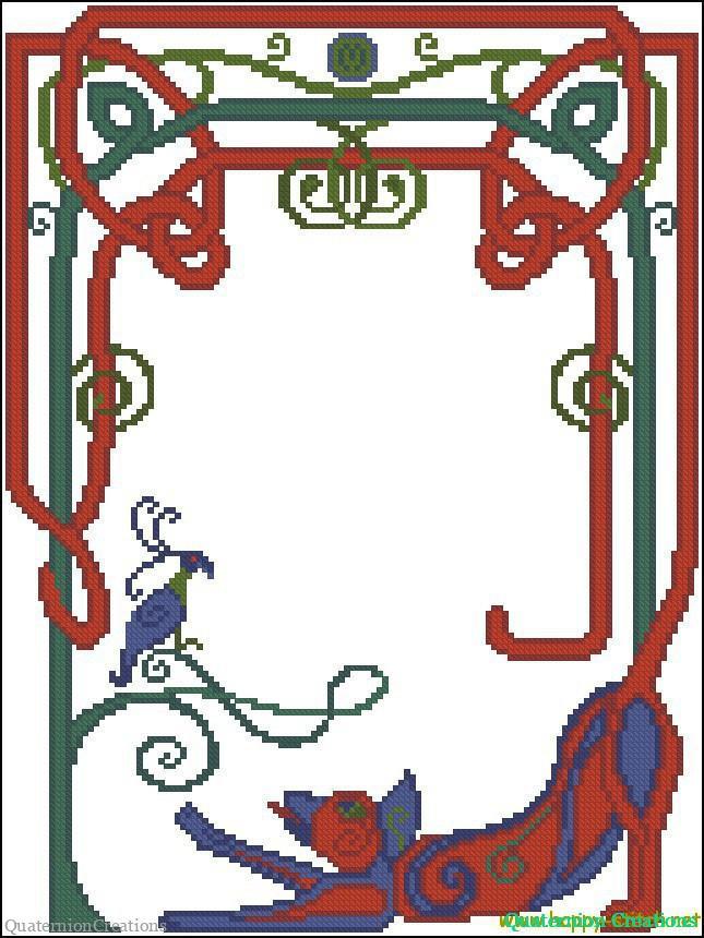 Схема для вышивки Келлский кот !